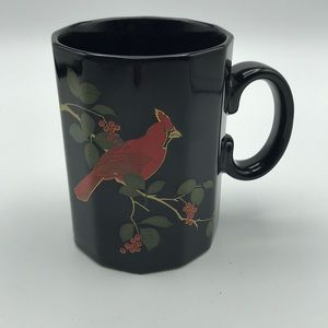 Otagiri Japan Cardinal Mug Black Red Coffee
